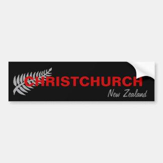 AUTOCOLLANT DE VOITURE CHRISTCHURCH, NOUVELLE ZÉLANDE
