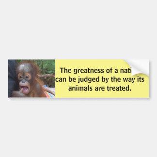 Autocollant De Voiture Citation animale de Gandhi de bébé mignon