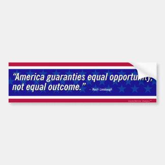 Autocollant De Voiture Citation de Limbaugh - égalité des chances