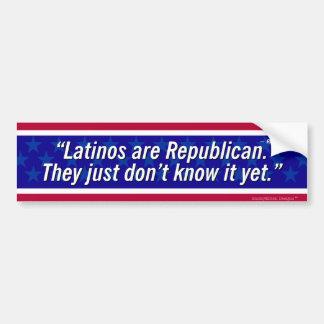 Autocollant De Voiture Citation de Reagan - les Latino sont républicains…
