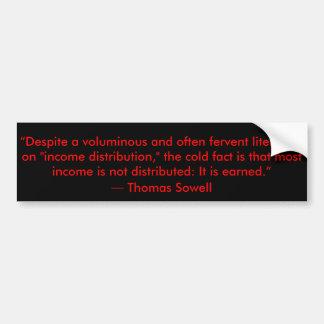 Autocollant De Voiture Citation de redistribution des revenus