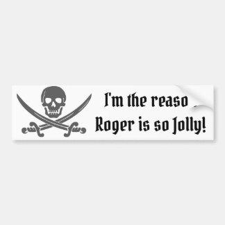 Autocollant De Voiture Citation drôle de pirate avec le jolly roger