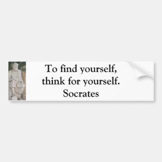 Autocollant De Voiture Citation inspirée de Socrates