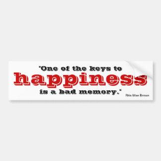 Autocollant De Voiture Clé au bonheur