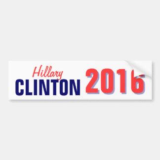 Autocollant De Voiture Clinton 2016