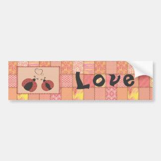 Autocollant De Voiture Coccinelles mignonnes adorables dans l'amour
