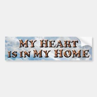 Autocollant De Voiture Coeur en mon TEXTE à la maison - adhésif pour