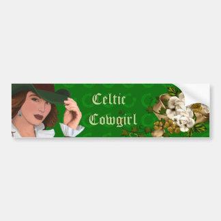 Autocollant De Voiture Collection celtique de cow-girl