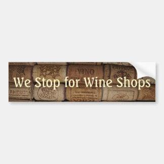 Autocollant De Voiture Collection de liège de vin