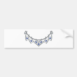 Autocollant De Voiture collier de saphir de diamant des années 1950