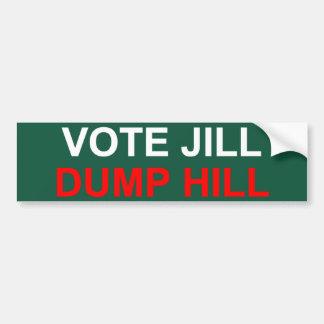 Autocollant De Voiture Colline de décharge de Jill de vote