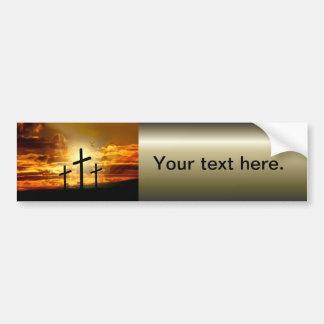 Autocollant De Voiture Colombe bénie par Jésus-Christ Calvery de Vierge