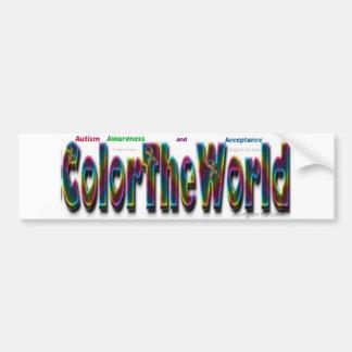 Autocollant De Voiture Colorez le monde pour l'adhésif pour pare-chocs