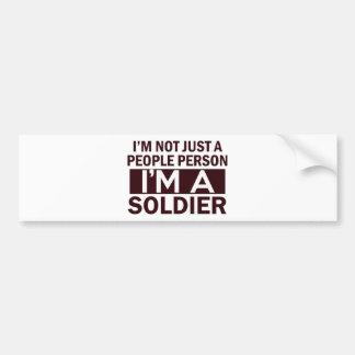 Autocollant De Voiture conception de soldat