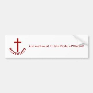 Autocollant De Voiture Conception rachetée par chrétien de Croix-Rouge et