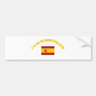 Autocollant De Voiture conceptions patriotiques espagnoles de drapeau