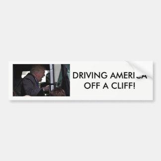 """Autocollant De Voiture """"Conduisant l'Amérique atout d'anti-Donald outre"""