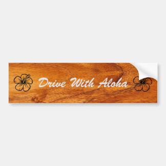 Autocollant De Voiture Conduisez avec Aloha