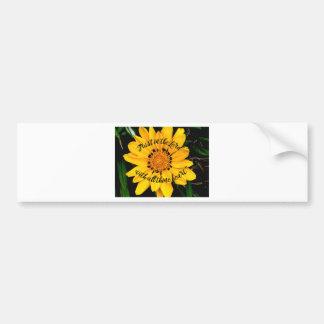 Autocollant De Voiture Confiance dans le seigneur Bright Yellow Flower