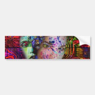 Autocollant De Voiture Confusion artistique de brouillard de cerveau