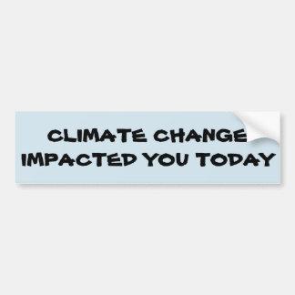Autocollant De Voiture Conscience de changement climatique