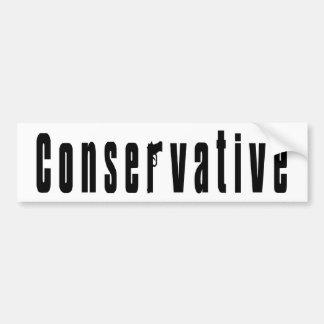 Autocollant De Voiture Conservateur avec une arme à feu