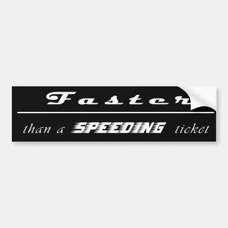 Autocollant De Voiture Contravention pour excès de vitesse