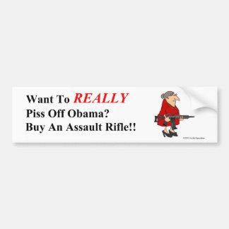 Autocollant De Voiture Contrôle des armes Bumpersticker d'Obama