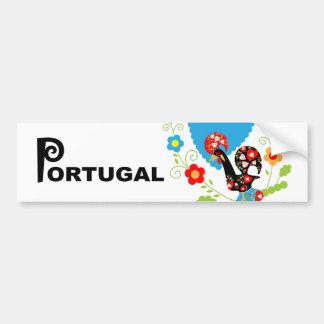 Autocollant De Voiture Coq portugais de pare-chocs de chance
