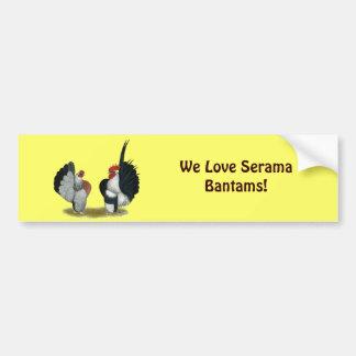 Autocollant De Voiture Coqs nains de Serama