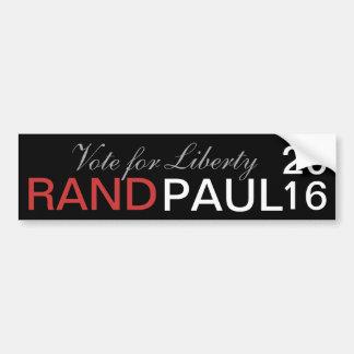 Autocollant De Voiture Couche-point Paul 2016 - vote pour la liberté