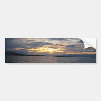 Autocollant De Voiture Coucher du soleil au rivage