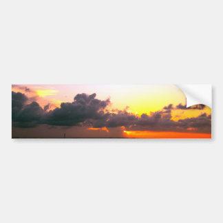 Autocollant De Voiture coucher du soleil orange d'or pourpre renversant