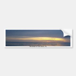 Autocollant De Voiture Coucher du soleil stupéfiant à l'île de chêne