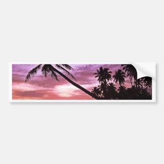 Autocollant De Voiture Coucher du soleil tropical