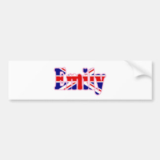 Autocollant De Voiture Coupe-circuit Emily d'Union Jack
