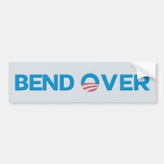Autocollant De Voiture Courbure au-dessus d'anti Obama Bumpersticker