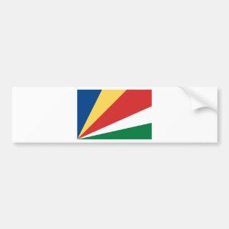 Autocollant De Voiture Coût bas ! Drapeau des Seychelles