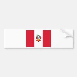 Autocollant De Voiture Coût bas ! Drapeau du Pérou