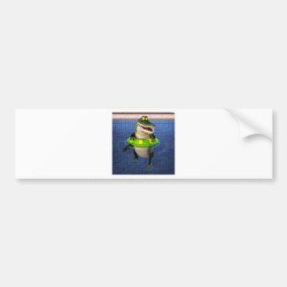 Autocollant De Voiture Crocodile de bande dessinée dans l'extrémité