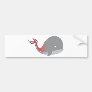 Autocollant De Voiture Croisière de bande dessinée de queue de baleine de