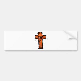 Autocollant De Voiture Croix étrangère de Dieu