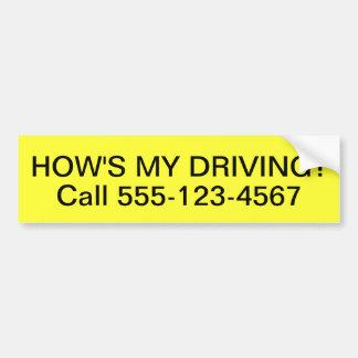 Autocollant De Voiture Customisé comment est mon adhésif pour pare-chocs
