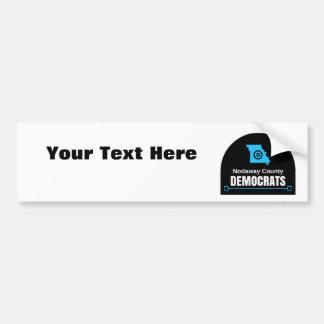 Autocollant De Voiture Customisez votre propre message : DEM du comté de