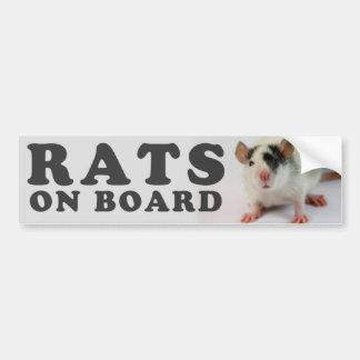 Autocollant De Voiture (Cute) Rats on board