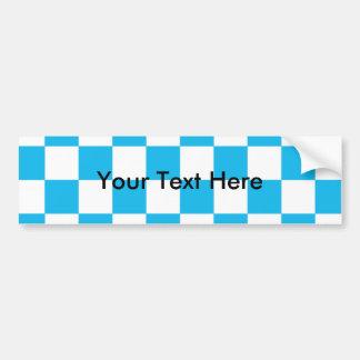 Autocollant De Voiture Damier de bleu de réception au bord de la piscine