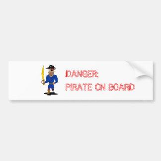 Autocollant De Voiture Danger : Adhésif pour pare-chocs de pirate à bord