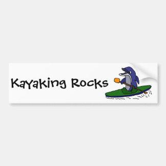 Autocollant De Voiture Dauphin drôle Kayaking