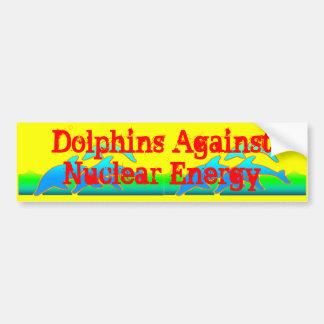 Autocollant De Voiture Dauphins contre l'Anti-Arme nucléaire d'énergie