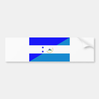 Autocollant De Voiture de drapeau de pays du Honduras Nicaragua demi